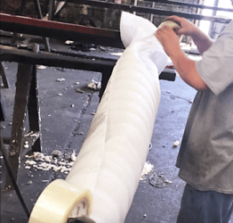 Packaging Process 2 – foam wrapping