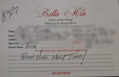 Bella Mia Fine Dining_3982