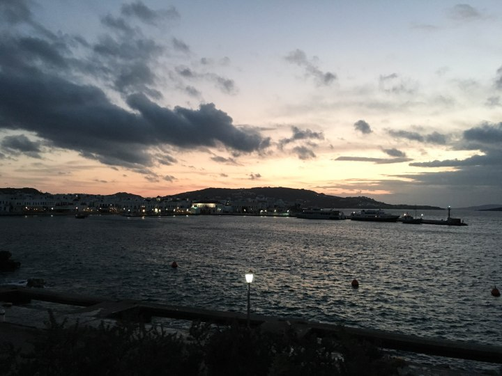 Mykonos Sunset Skyline