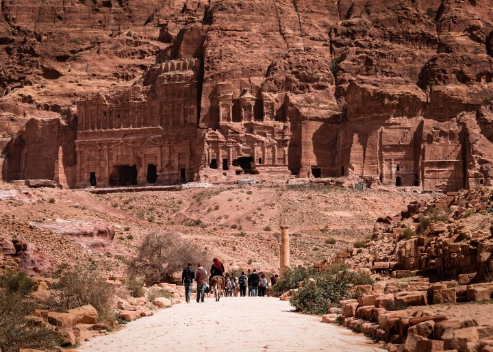 the royal temples of Petra