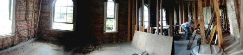 Second floor of the slave quarters panorama