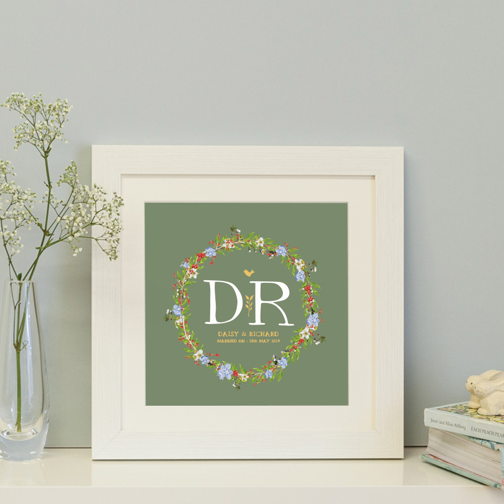 floral personalised print