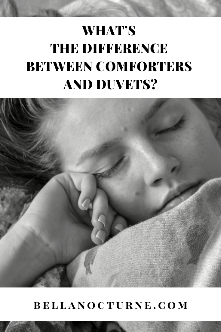 Confused about the difference between a duvet and a comforter? You're not alone. There is a lot of misleading terminology in bedding. Duvets may be called down comforters, for example, blurring the line between the two. Here's the real difference between a comforter and a duvet and other terms you will encounter. #bedding #comforter #duvets