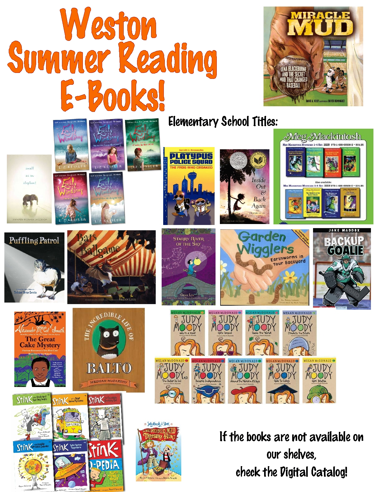 E Books Elementary Summer Reading List