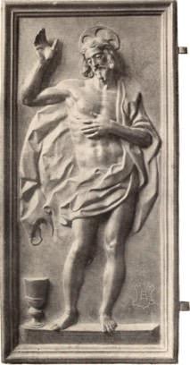 Jesus Risen bronze plaque