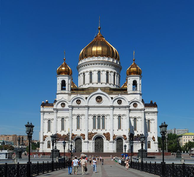 Cathedral of Christ Our Savior on the Moscow River