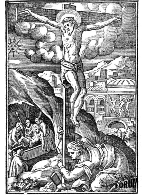 Creed 4 who was crucified under Pontius Pilate, suffered, died, and was buried.