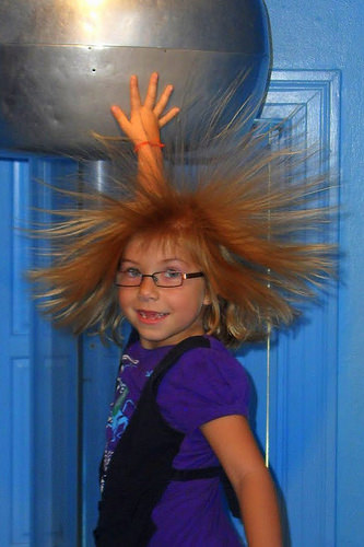 electricity hair photo