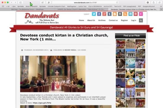dandavats kirtan christian