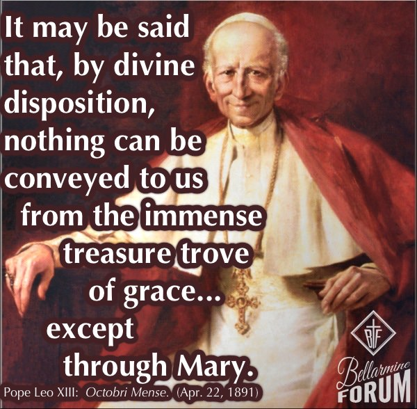 Pope Leo XIII quote rosary octobri mense