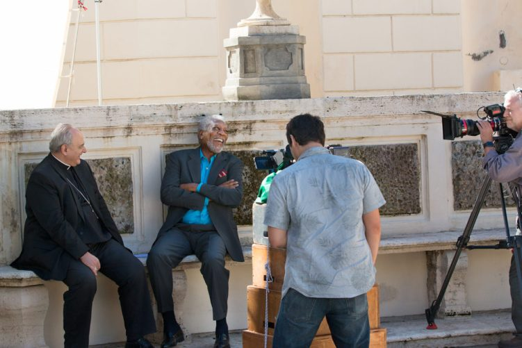 Morgan in Rome - Alumna, Professor Help Tell the 'Story of God' with Morgan Freeman
