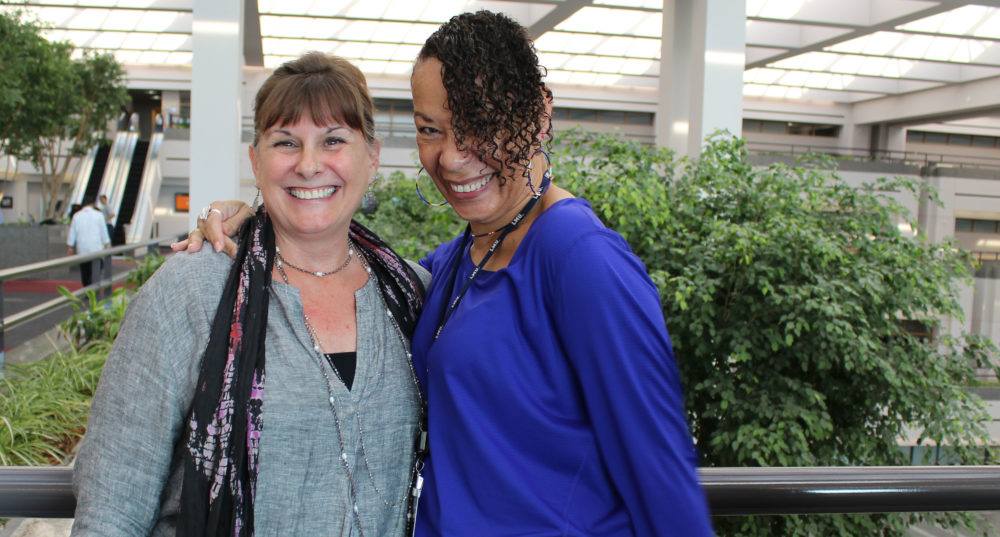 Dean Robbin D. Crabtree with Cheryl T. Grills in University Hall