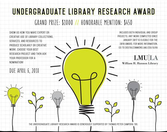 Undergraduate Library Research Award Flyer