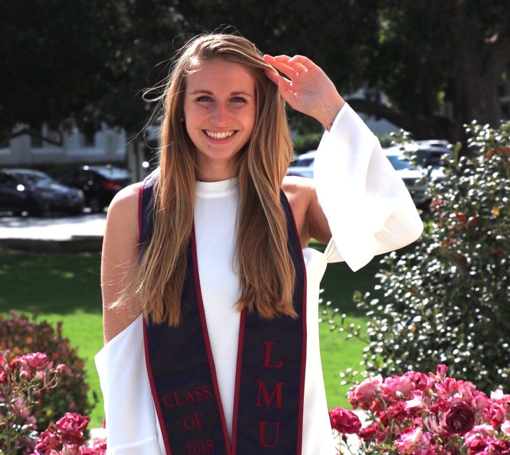 Chloe Hall, liberal arts grad, graduation photo