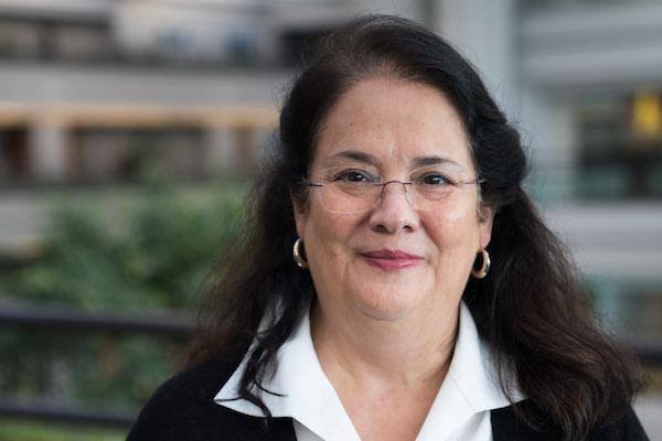 Nancy Pineda Madrid headshot in University Hall