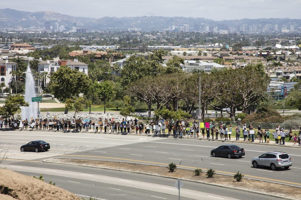LMU Student BLM Protest scaled - LMU Psychology Department Letter of Support and Solidarity with Black Lives Matter