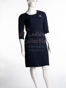 Dresses made in Turkey in Kampala, dark blue, Chiffon material
