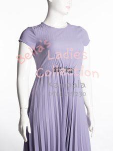 Pleated skirt dress, Light purple.