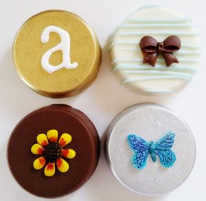 Chocolate covered Oreo cookies are a gorgeous and delicious gift! Custom decorated and we ship!