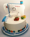 Sewing Machine Cake - Bella's Desserts of Philadelphia