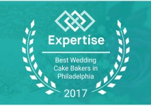 We won best wedding bakers in Philadelphia in 2017