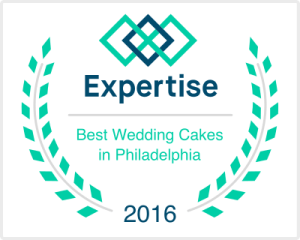 We're listed as a winning wedding cake vendor in the Philly area