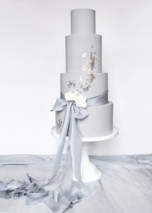 Silver modern wedding cakes, cutomized to your tastes