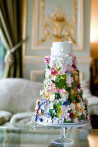 Whimsical wedding cakes can be custom made, too