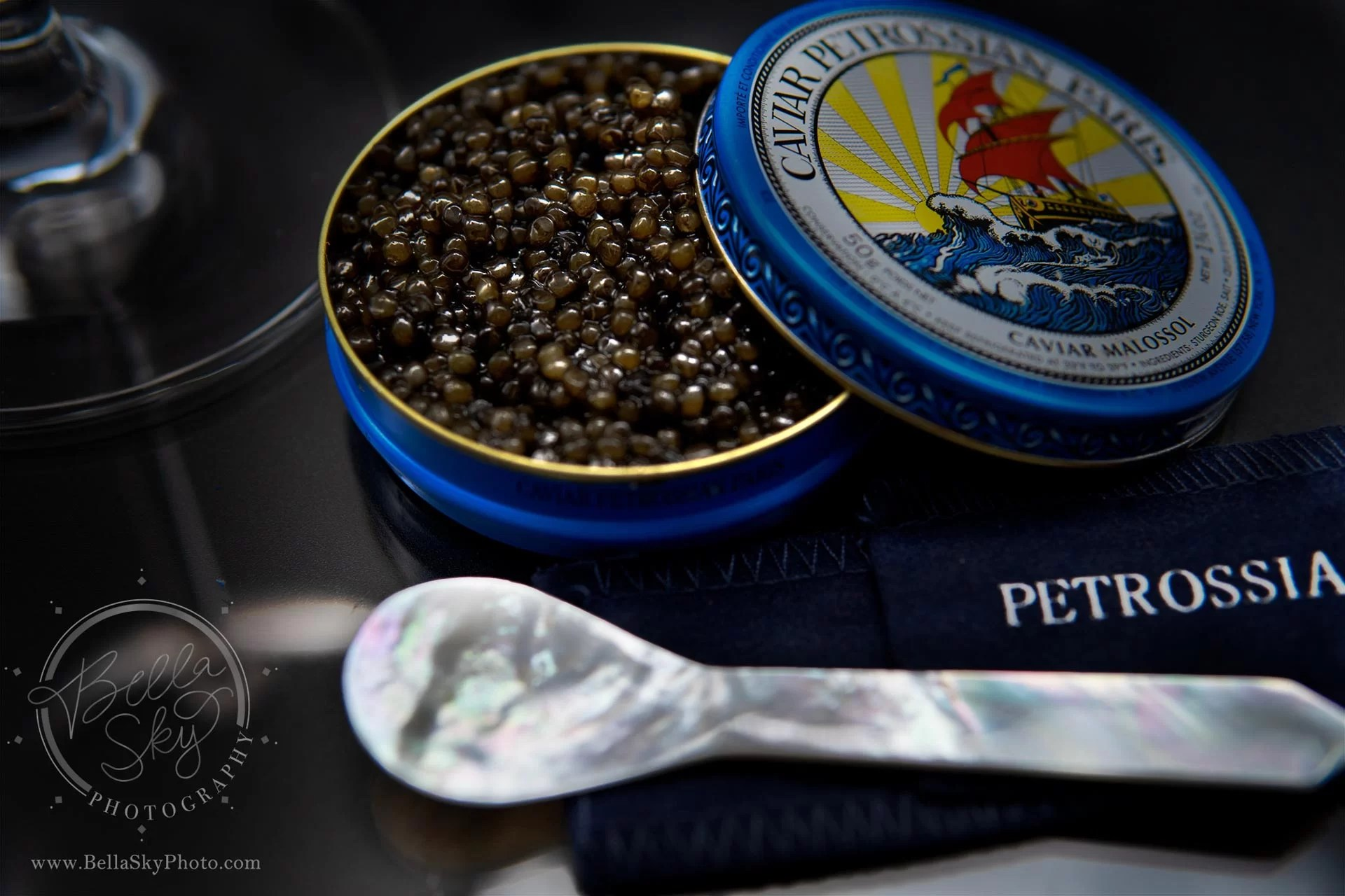 food photography caviar fish eggs