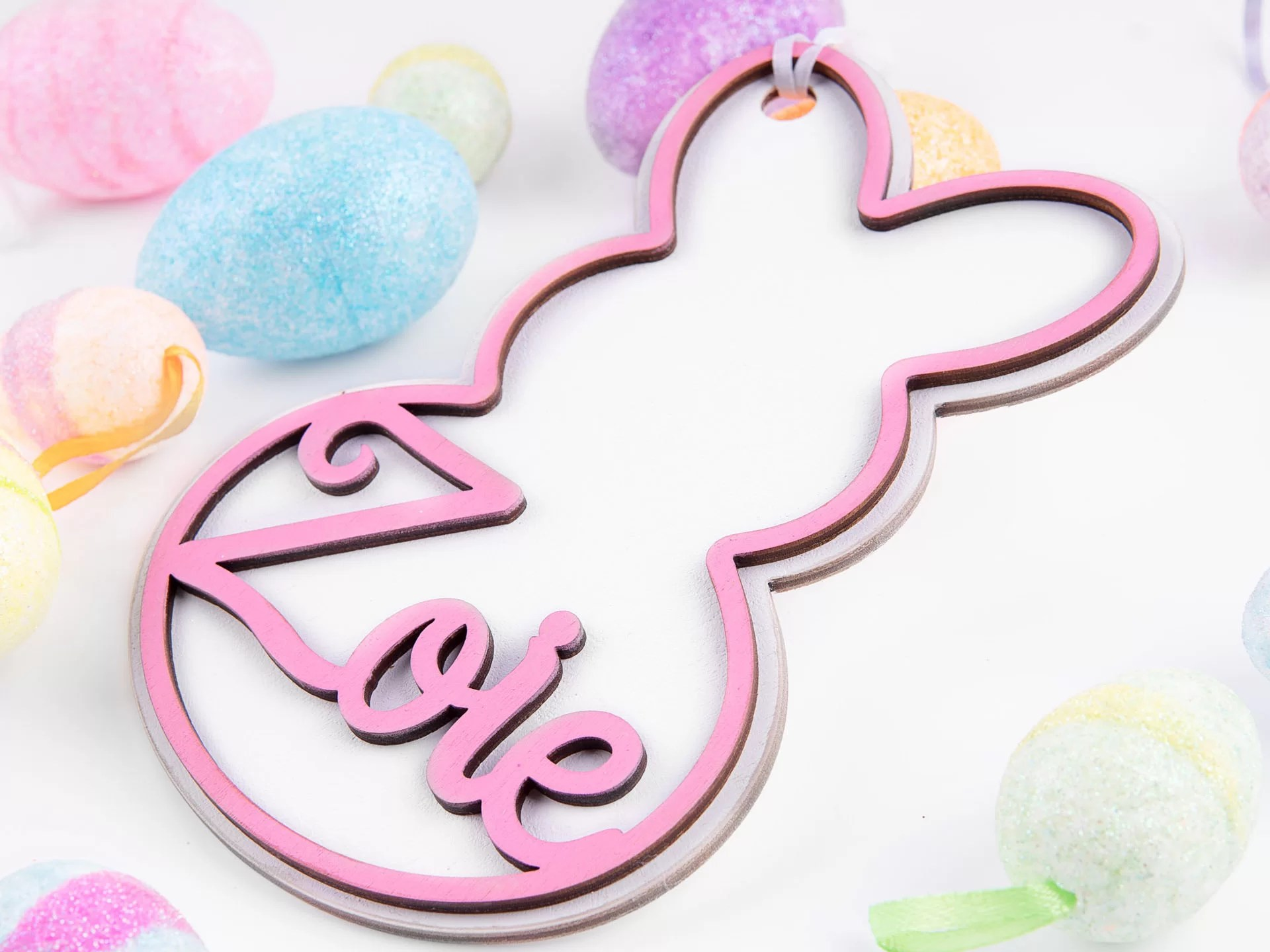 easter bunny tag by missouri product photographer