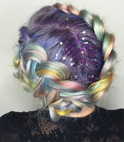 glitter-hair-makeup