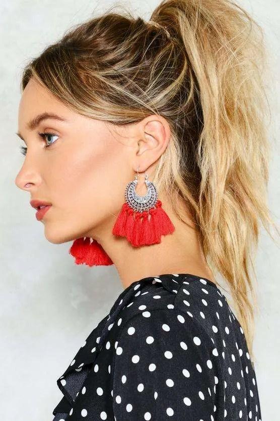 Let's Rock Tassel Earrings