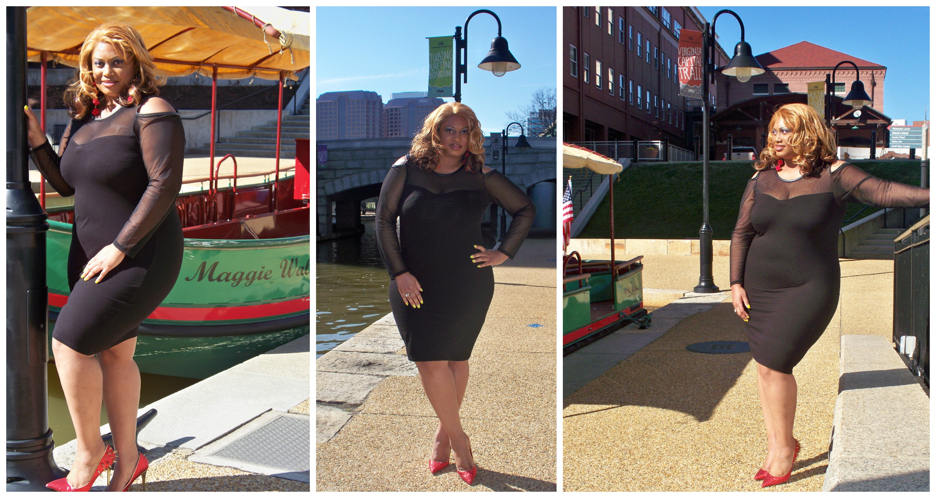 OOTD     Dinner On The Canal       Trendy Curves  by Bella Styles  LLC Earrings from It s Fashion Metro