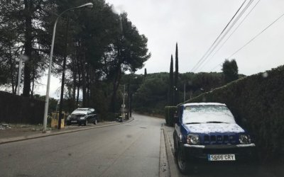 La neu arriba al Vallès i moderadament a Bellaterra