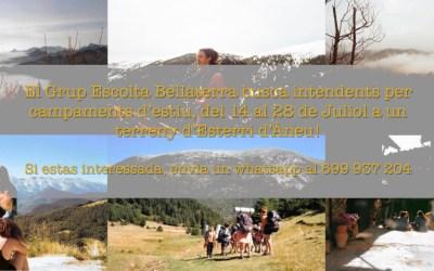 El Grup Escolta Bellaterra busca intendents pels campaments d'estiu