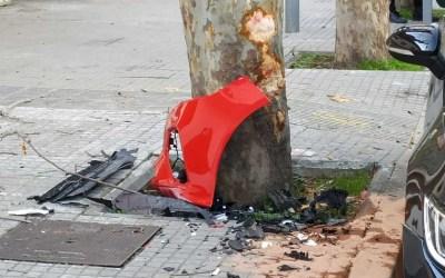 Accident d'importància just davant de l'Hostal Sant Pancraç