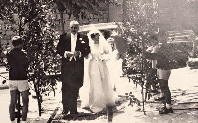 Un casament ben vistós a Bellaterra l'any 1961