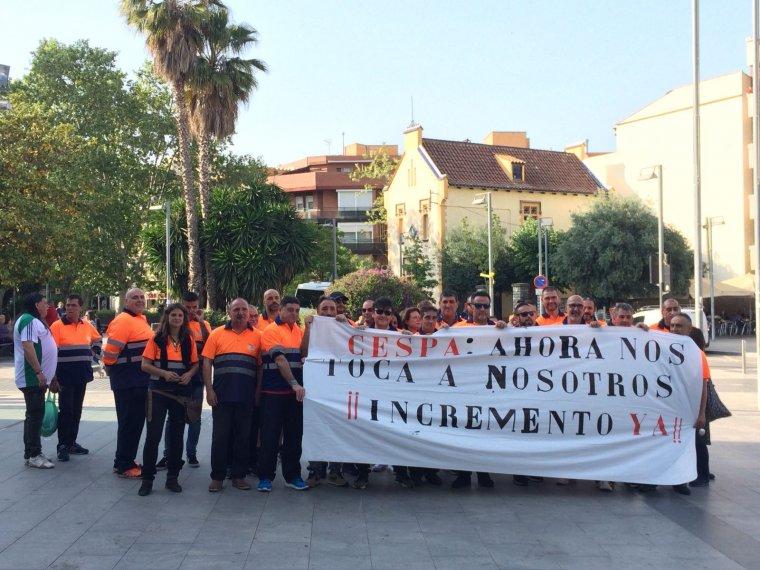 Els treballadors de la CESPA es manifesten a Cerdanyola per a la descongelació dels sous
