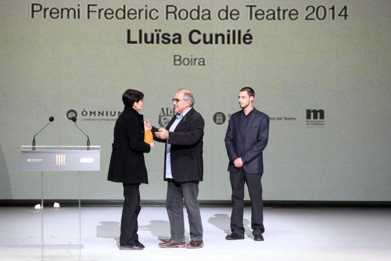 Entrega del premi a Lluïsa Cunillé, durant la primera edició del premi | Arxiu