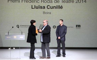 L'entrega del cinquè Premi Frederic Roda de Teatre es podrà seguir per Youtube