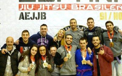 6 medalles d'or i de plata al Campionat d'Espanya de Jiu-Jitsu Brasiler