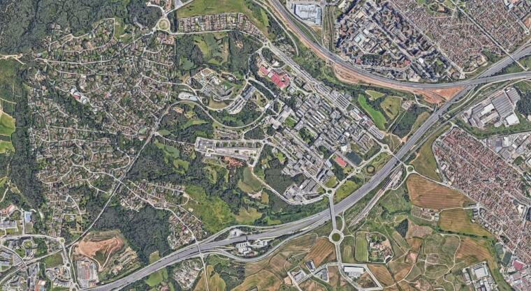 Les millores per Bellaterra, d'aprovar-se el Pla, es concentraran a la zona propera al nus AP-7 / C-58, a la part superior dreta del mapa