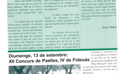 Recordeu com es vivien i s'explicaven les festes de Bellaterra? FM98 Gimcana + Paelles