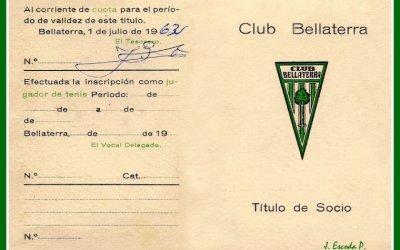 Un carnetdel Club Bellaterra si estaves al corrent de la quota