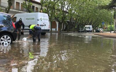 Una forta calamarsada sorprèn els veïns de Bellaterra