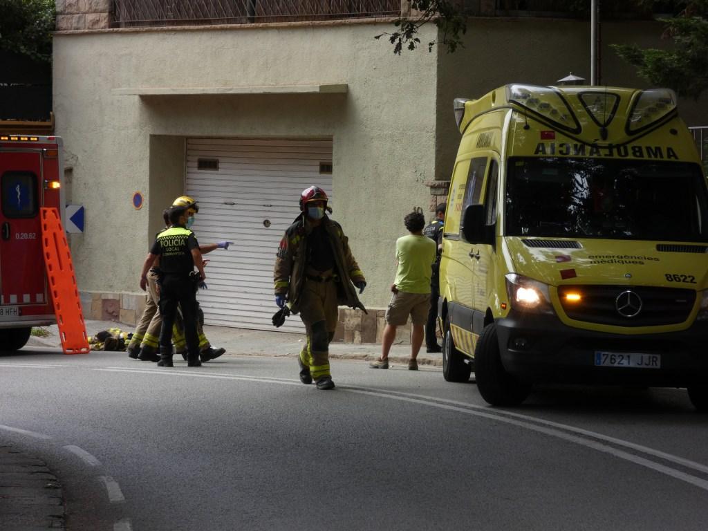 Bombers, Policia Local i SEM han acudit al lloc de l'accident | Toni Alfaro