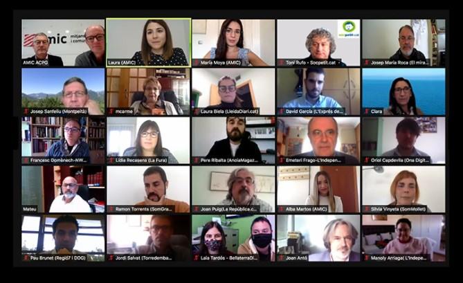 Un moment durant la reunió telemàtica de l'AMIC | AMIC