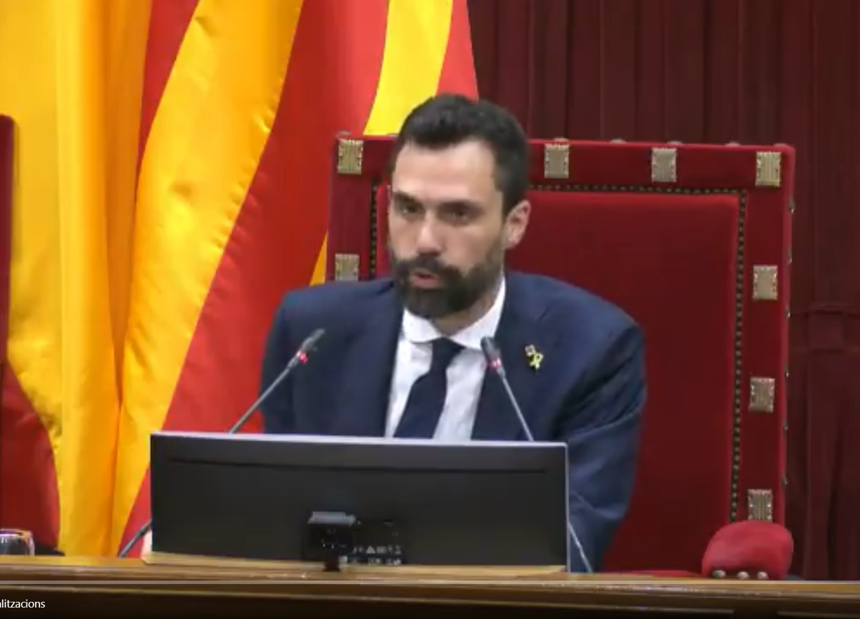 El president del Parlament, Roger Torrent, durant una sessió plenària | Parlament de Catalunya