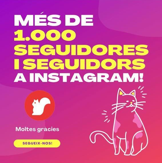 Cartell pels 1.000 seguidors a Instagram | Redacció