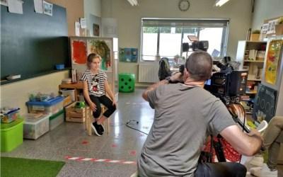 La Júlia, una alumna amb autisme de l'Escola Ramon Fuster explica el seu cas a l'InfoK